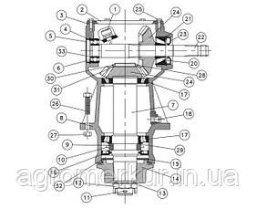 Вал редуктора 331-833 Schulte, фото 3
