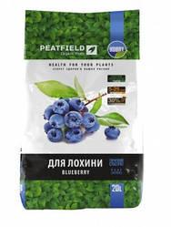 """Торфяной субстрат """"Для голубики"""" PEATFIELD, 20 л — выращивание голубики, клюквы, черники, хвойных"""