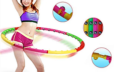 Массажный хулахуп для похудения и коррекции талии Massage Hoop 1108 диаметр 96 см, массажный обруч, фото 2