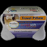 Подушка для путешествий DROM косточка Светло-серый 14002, КОД: 1022639