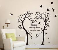 Декоративная  наклейка деревья  (100х90см)