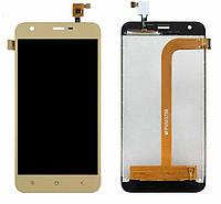 Экран (дисплей,lcd) Blackview A9 Pro с тачскрином (сенсором,touchscreen) золотистый