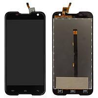 Экран (дисплей,lcd) Blackview BV5000 с тачскрином (сенсором,touchscreen) черный