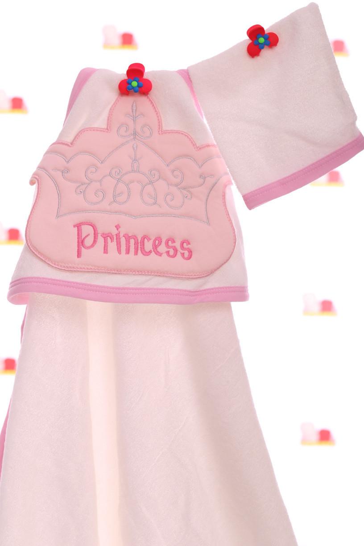 Полотенце с уголком Принцесса 90*95 см