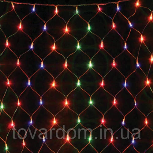 Новогодние гирлянды сетка, цветная с регулятором