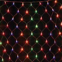Новогодние гирлянды сетка, цветная с регулятором, фото 1