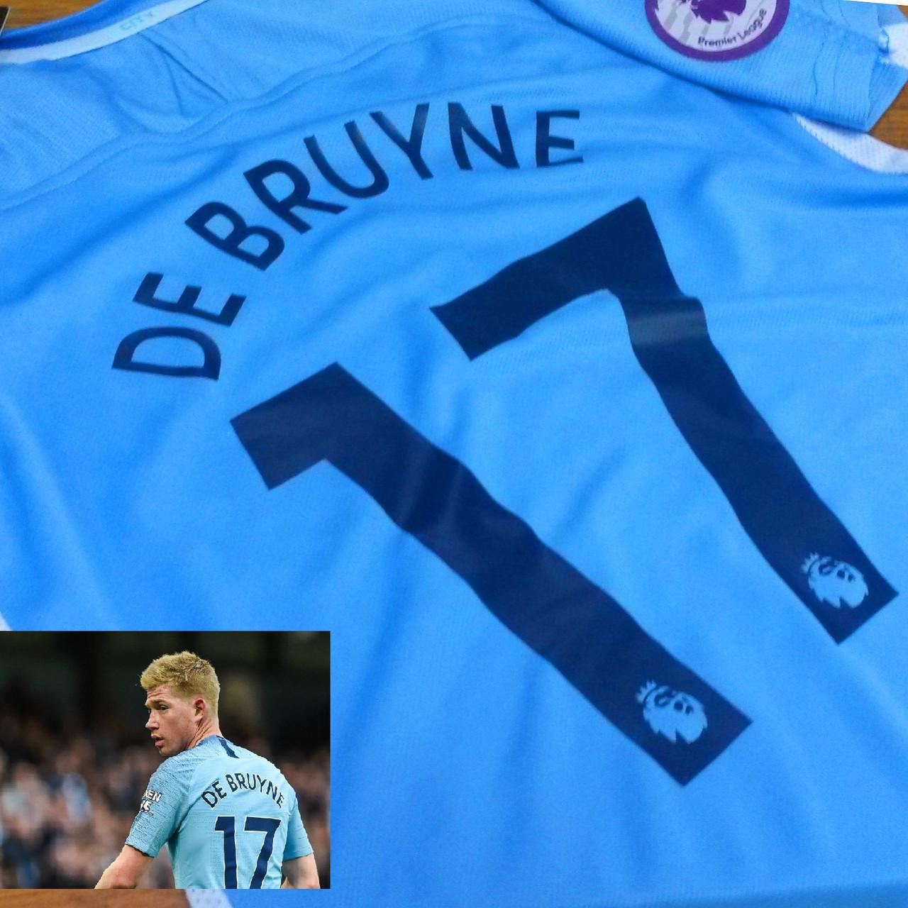 Детская футбольная форма Манчестер Сити №17 Кевин де Брюйне