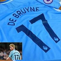 Детская футбольная форма Манчестер Сити №17 Кевин де Брюйне, фото 1