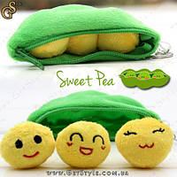 """Плюшевый брелок Милые горошины - """"Sweet Pea"""" - 10 х 4 см."""