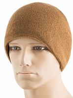Зимняя вязаная шапка с подкладкой из флиса цвет койот 40538005