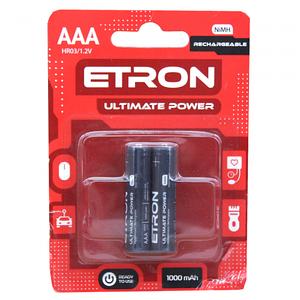 Ultimate Power AAА 1000mAh Ni-Mh Ready 2Use Blister. 2 pcs 12/120