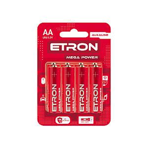 Батарейка AA LR6 Алкалінова ETRON