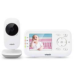 """Цифрова відеоняня однобічного зв'язку Vtech VM3252 з датчиком температури,кольоровий екран 2.8"""""""