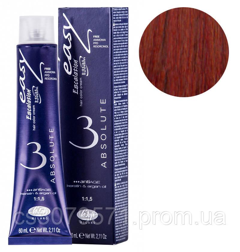 66/56 глубокий темный блондин красный коралл, стойкая крем-краска для волос без аммиака 60 мл