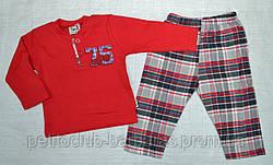 Дитяча піжама для хлопчика 75 червона/клітина р. 68-80 см (OZTAS, Туреччина)