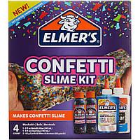 """""""Конфетти"""" - набор клея и активатора для слаймов 4шт, Elmer's Confetti slime kit"""