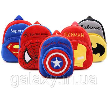 Рюкзак детский плюшевый с героями на 1-3 года