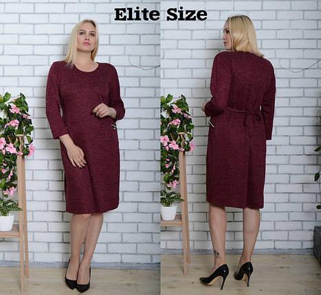 Ангоровое платье свободного кроя до колен большого размера 52-62 р, фото 2