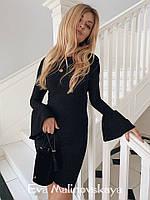 Женское платье люрекс черное нежно-розовое S M, фото 1