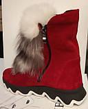 Ботинки молодежные зима из натуральной замши от производителя ЛУ514, фото 3