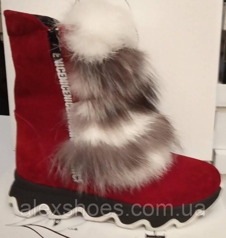 Ботинки молодежные зима из натуральной замши от производителя ЛУ514