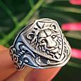 Серебряное кольцо Лев - Мужское серебряное кольцо со Львом, фото 10