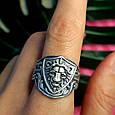 Серебряное кольцо Лев - Мужское серебряное кольцо со Львом, фото 9
