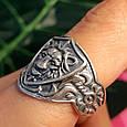 Серебряное кольцо Лев - Мужское серебряное кольцо со Львом, фото 8