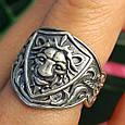 Серебряное кольцо Лев - Мужское серебряное кольцо со Львом, фото 7