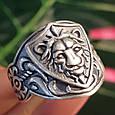 Серебряное кольцо Лев - Мужское серебряное кольцо со Львом, фото 2