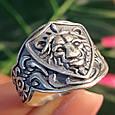 Серебряное кольцо Лев - Мужское серебряное кольцо со Львом, фото 5