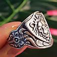 Серебряное кольцо Лев - Мужское серебряное кольцо со Львом, фото 4