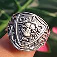 Серебряное кольцо Лев - Мужское серебряное кольцо со Львом, фото 3