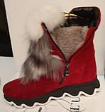 Ботинки молодежные зима из натуральной замши от производителя ЛУ514, фото 5