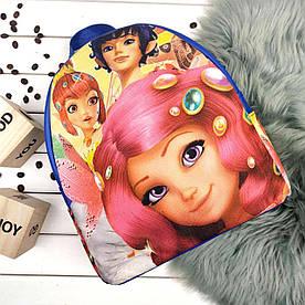 Синий модный женский рюкзак с принтом Мия и Я