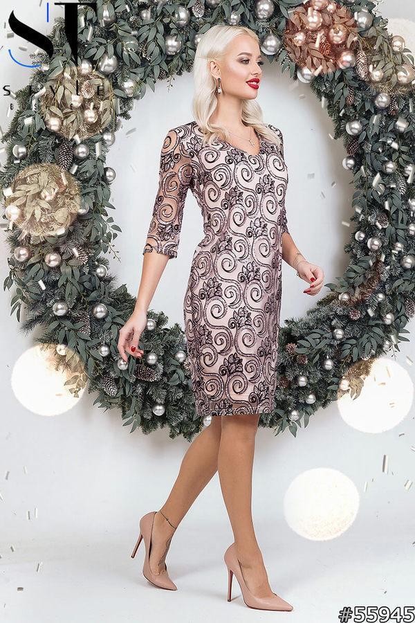 Коктейльное платье из флока размеры 42-46