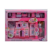 Домик для кукол, кукла, мебель, звук, свет, 6665