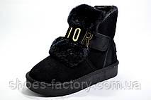 Женские Угги в стиле Dior UGG, Black (Натуральная замша), фото 3
