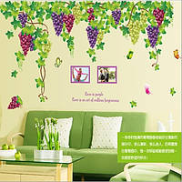 Декоративная  наклейка виноградная лоза  (196х140см)