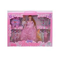 Кукла с нарядом, платья, дочка, мебель, украшения, микс видов, 665B