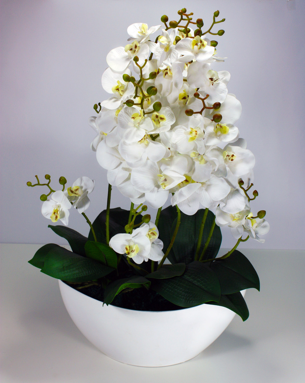 Искуственное растение, орхидея, белая