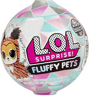 Шарик ЛОЛ Пушистый любимец Зимнее диско L.O.L. Surprise! Fluffy Pets Winter Disco, фото 2