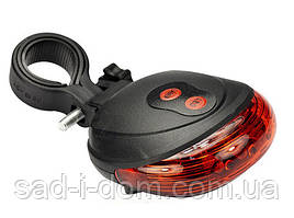 Велосипедный фонарь габаритный (задний стоп) с лазерной дорожкой Laser Tail Light DW-681 Red