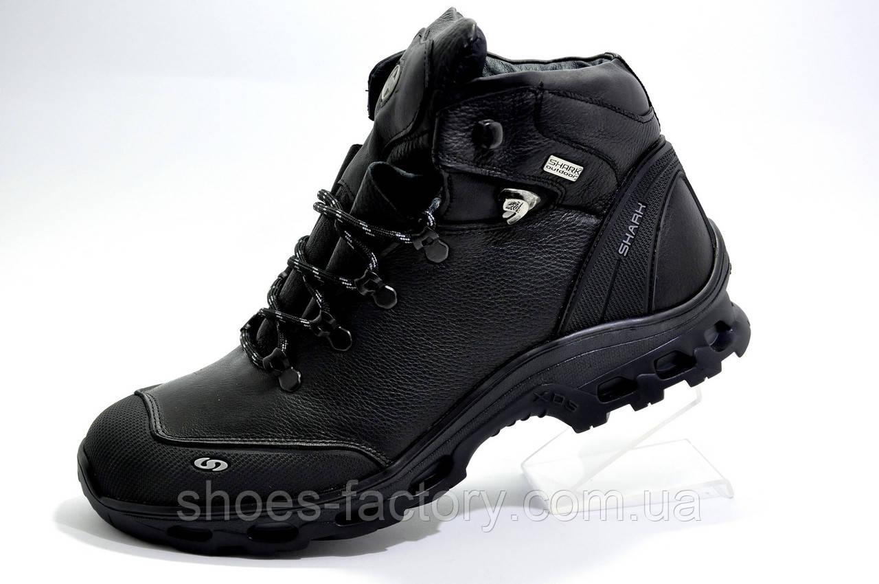 Зимние мужские ботинки на меху Shark 2020, (Натуральная кожа)