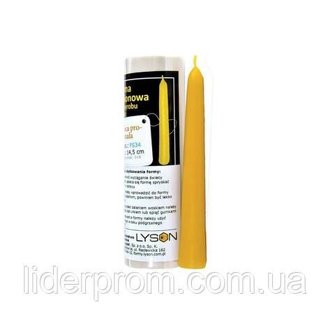 """Форма   для изготовления свечей силиконовая"""" Cвеча классическая"""" LYSON Польша, фото 2"""