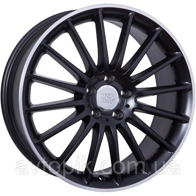 Литые диски WSP Italy Mercedes (W773) Shanghai R19 W8.5 PCD5x112 ET48 DIA66.6 (black full polished)