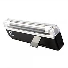 Детектор валют Kronos DL01 портативный на батарейках, ультрафиолетовый детектор купюр, сканер денег, фото 2