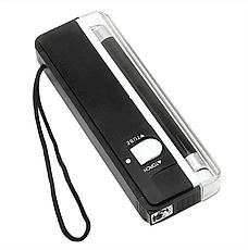 Детектор валют Kronos DL01 портативный на батарейках, ультрафиолетовый детектор купюр, сканер денег, фото 3