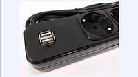 Сетевой фильтр, удлинитель на 5 розеток и 2 USB \ SP5 3m