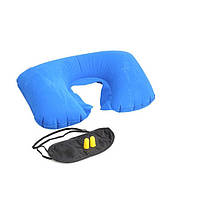 Набор для сна 3-в-1 маска, беруши, подголовник Travel Selection R82824